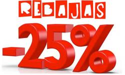 rebaja 25%